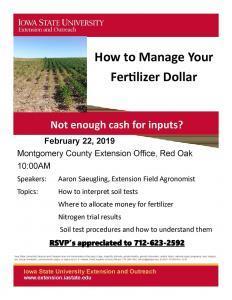 2019 Montgomery Soil Fertility
