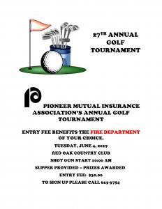 Pioneer Mutual Annual Golf Tournament 2019