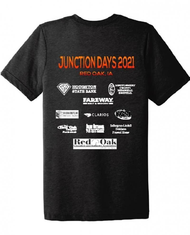 Junction Days 2021 - Back of T-shirt Design