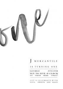 J Mercantile One Year Anniversary