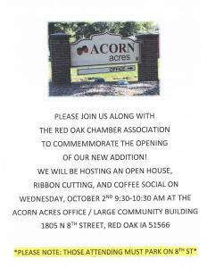 Acorn Acres Ribbon Cutting