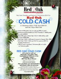 Cold Cash Flyer 2019