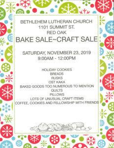 Bake sale-Craft sale