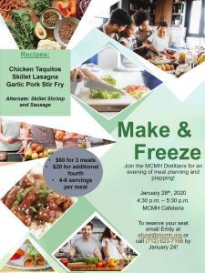 Make & Freeze Meal Planning
