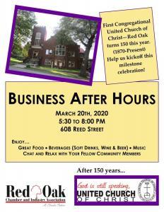 First Congregational Business after hours